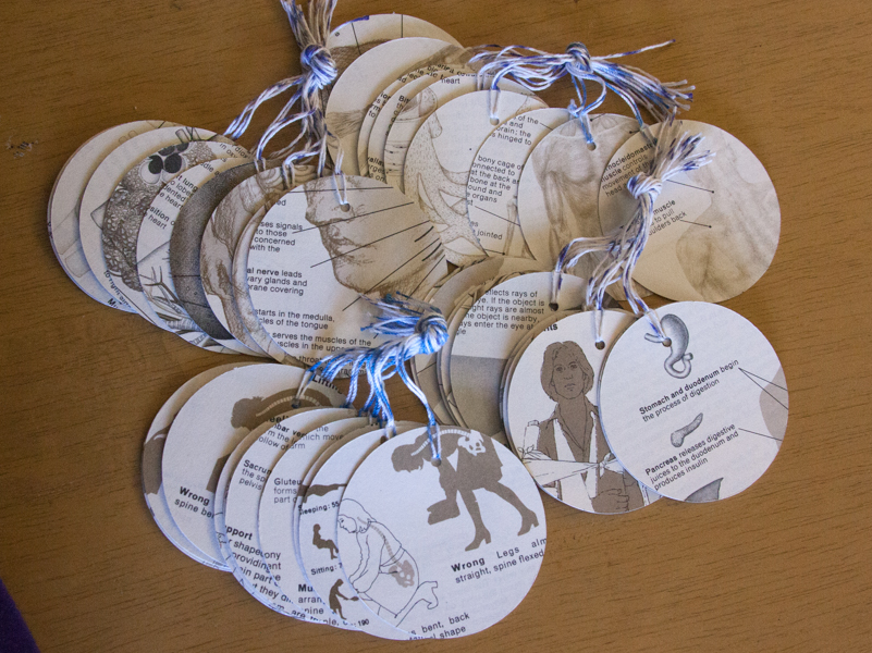 medical encyclopedia large gift tags